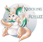 Rowlet X Nidoking [closed] by Seoxys6