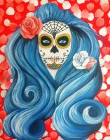 Candy Skull woman by VoodooDollyArtwork