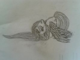 Fluttershy in some kind of style :D by swedishpancaces