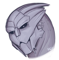 Turian Face Study by AnArtistCalledRed
