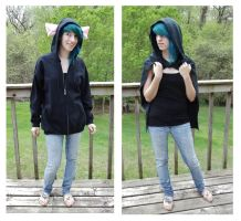 Rat hoodie with cloak by Mermade4u