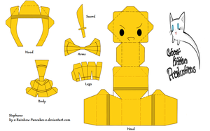 Stephano Chibi Papercraft by x-SpookyBoo-x