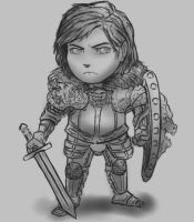 Chibi Lion Knight Wip by DeadArmour