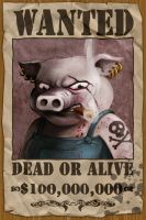 Killer Swine Wanted Poster by Keeveneo