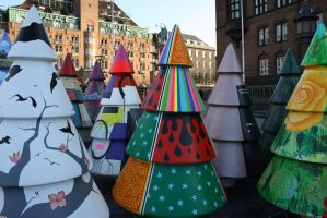 Christmas trees in Copenhagen by hellel24