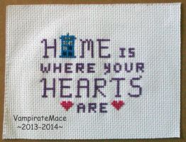 Doctor Who, Home and Hearts - Cross Stitch by VampirateMace