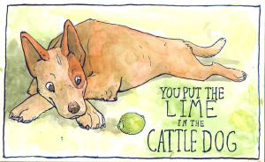 Lime in the Cattle Dog by sparkynekomi