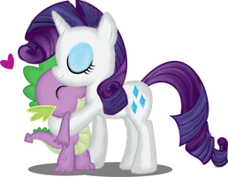 Rarity and Spike by xxAmber-Laylaxx