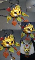 Autumn Fox Spirt Necklace by AbandonedMemory