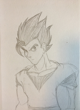 Sketches: Ultimate Gohan by Eternal-Apprentice