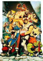 Street Fighter 25th Anniversary tribute by GENZOMAN