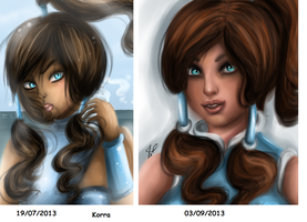 Korra little process by JamilSC11
