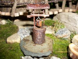 Handmade Miniature Wooden Wishing Well by PymatuningCrafts