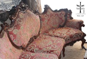 Antique Couch II by TheoGothStock