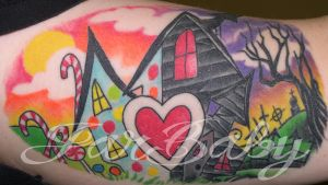 candyland vs haunted house by jarbaby