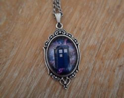 Doctor Who galaxy TARDIS necklace by Lisa-Locket