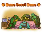 TMNT sharing a kotatsu by Tigerfog