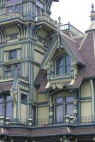 Carson Mansion detail by finhead4ever
