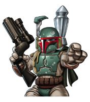 Boba Fett Mini by Stevenartist