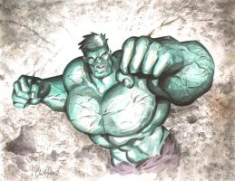 Hulk Watercolor 122710 by ChrisMcJunkin