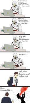 Altair and ugly truth by Purple-Meow