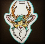 Deer Badge by FoxeeTreasures