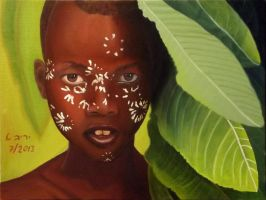 Painted African boy by yarivt