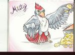 ASK MISTY! African Grey parrot OC! by AmericanBlackSerpent
