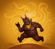 Running Fat Imp by metalpiss
