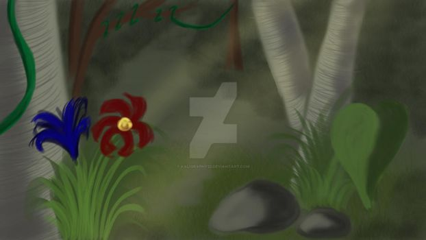 Attempt at Jungle Background by Kaligraphy22