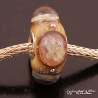 Pink Orange Storm Pandora Bead by booga119