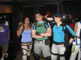 Chris and his partners Jill and Sheva by Chris--Redfield