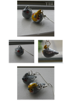 Cockatiel earrings by Tirrih