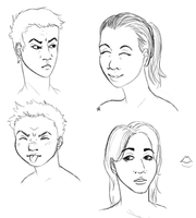 Moar faces by Alisha-town