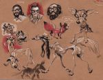 Dogs and Allen Ginsberg by FablePaint