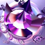 shiny violet crystal by Andrea1981G