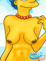 WetTshirt2015 Marge Simpson topless by Chesty-Larue-Art