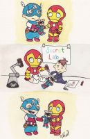 Baby Avengers: Bucky Bear Gets A New Arm by ShibbyOfSpades