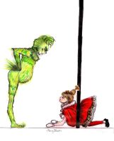 The Grinch ::::...::::Cindy-Lou Who by PansyBlack