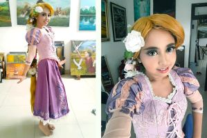 Tangled : Rapunzel cosplaytest by oruntia