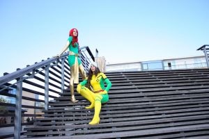 Phoenix and Rogue - Stairs by the-ice-nine