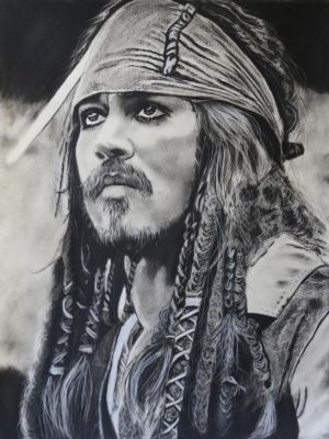 Captain Jack Sparrow.. by candysamuels
