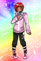 Nick the Pastel Goth Guy by CandySkitty