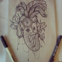Elephant tattoo design by ElfEupraxia