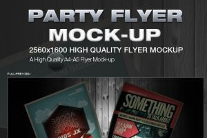 Party Flyer Mock-Up by calwincalwin