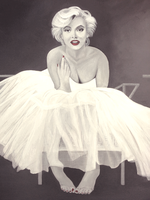 marilyn monroe ballerina painting by nandamicole