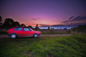 My red car by MisterDedication
