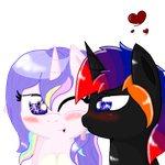 ''lick on your cheek'' drawing for Berrylilly by tiffanykip