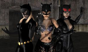 3 Catwoman by candycanecroft