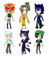 [CLOSED] Random male chibi adoptables by Riiko96